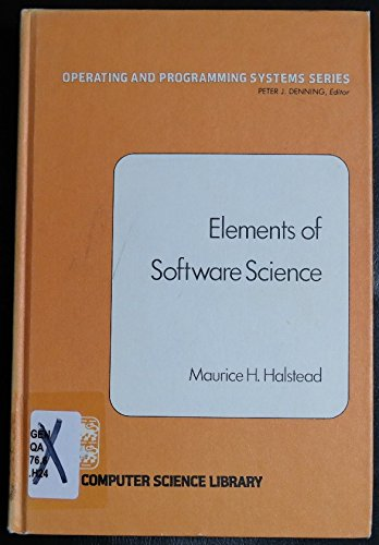 9780444002051: Elements of Software Science (Operating and programming systems series)