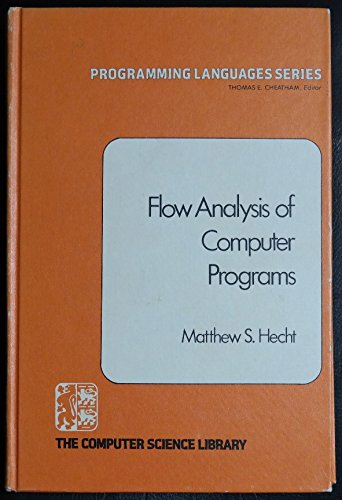 9780444002105: Flow Analysis of Computer Programs (Programming Languages Ser. Volume5)