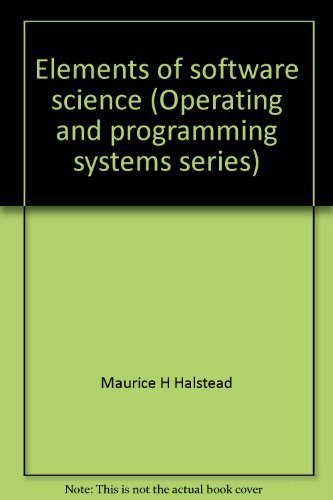 9780444002150: Elements of software science (Operating and programming systems series)