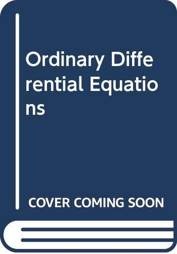 9780444002334: Ordinary Differential Equations