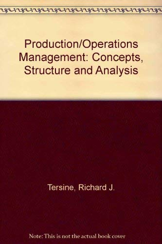 9780444003263: Production/Operations Management: Concepts, Structure and Analysis