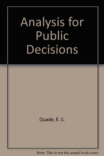 9780444006653: Analysis for Public Decisions