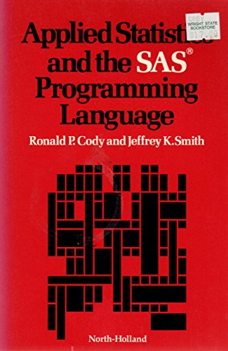 9780444008893: Applied Statistics and the S.A.S.Programming Language