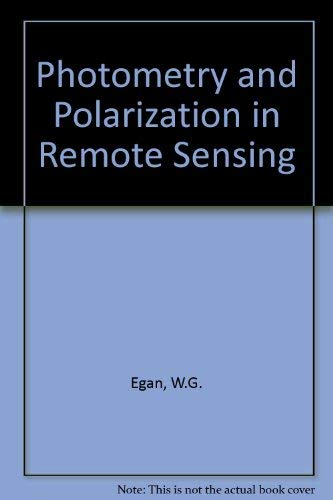 9780444008923: Photometry and Polarization in Remote Sensing