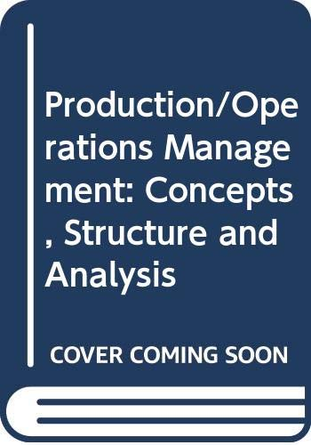 9780444009234: Production/Operations Management: Concepts, Structure and Analysis