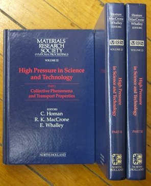 High Pressure in Science and Technology, Part: E. Whalley