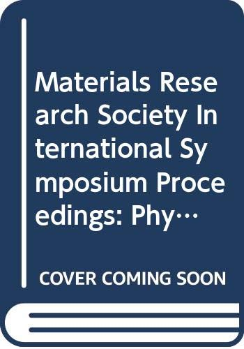 9780444009388: Materials Research Society International Symposium Proceedings 1984: Physical Metallurgy of Cast Iron (Materials Research Society Symposia Proceedings)