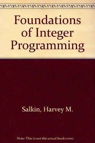 9780444012319: Foundations of Integer Programming