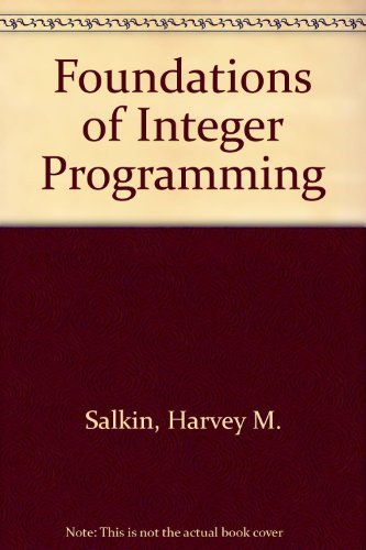 9780444012319: Foundations of Integer Programming