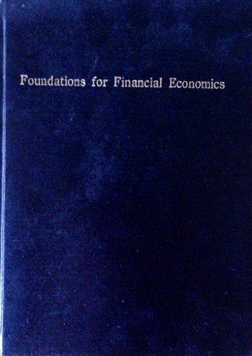 9780444013101: Foundations for Financial Economics