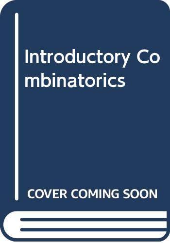 9780444016164: Introductory Combinatorics