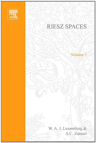 9780444101297: Riesz Spaces, Volume One.