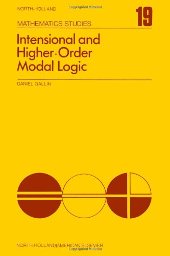 9780444110022: Intensional and Higher-Order Modal Logic, With Applications to Montague Semantics (North-Holland Mathematics Studies, Vol. 19)