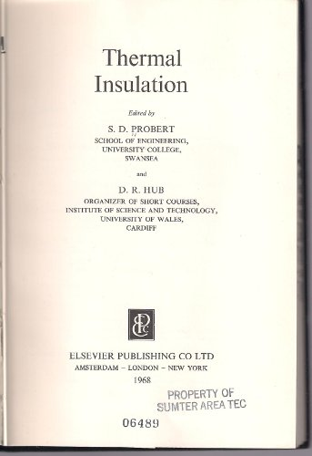 9780444200259: Thermal Insulation