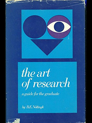 9780444404244: Art of Research: A Guide for the Graduate