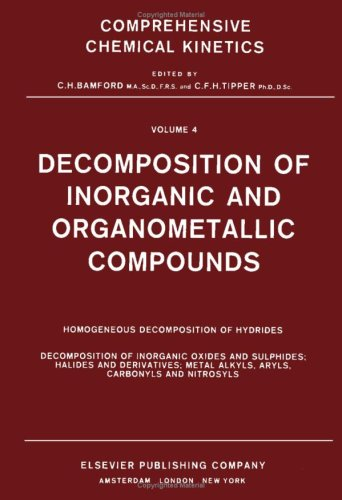 Decomposition of Inorganic and Organometallic Compounds, Volume
