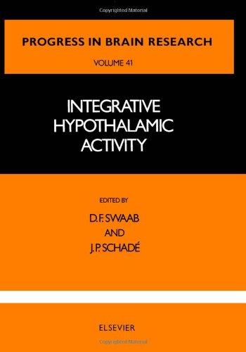 Integrative Hypothalamic Activity, Volume 41 (Progress in: n/a
