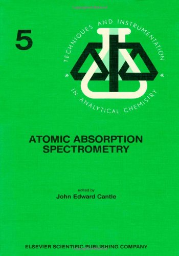 9780444420152: Atomic Absorption Spectrometry (Techniques and instrumentation in analytical chemistry)