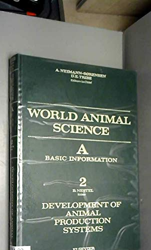 9780444420503: Development of Animal Production Systems (World Animal Science)