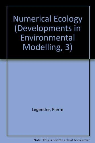 9780444421579: Numerical Ecology (Developments in Environmental Modelling, 3)