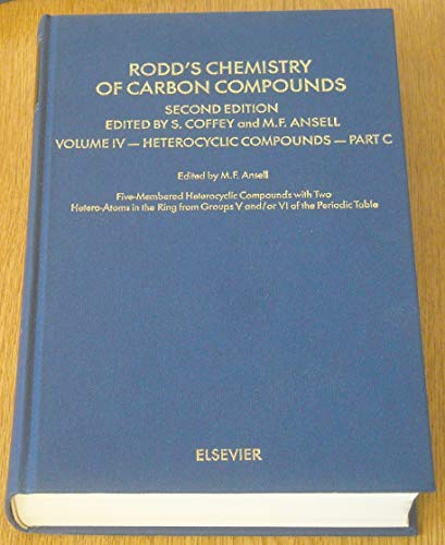 4: Rodd's Chemistry of Carbon Compounds: Heterocyclic: Rodd, E. H.
