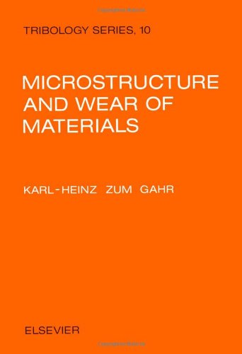 9780444427540: Microstructure and Wear of Materials (Tribology)