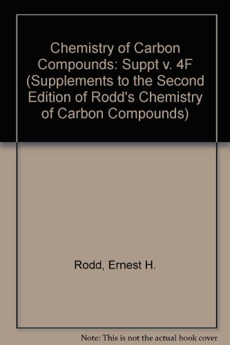 9780444428219: 4: Supplements to the 2nd Edition of Rodd's Chemistry of Carbon Compounds: Heterocyclic Compounds (RODD'S CHEMISTRY OF CARBON COMPOUNDS 2ND EDITION SUPPLEMENT)