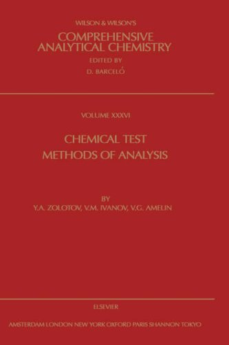 9780444502612: Chemical Test Methods of Analysis, Volume 36 (Comprehensive Analytical Chemistry)