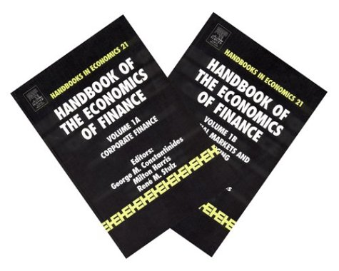 9780444502988: Handbook of the Economics of Finance: Set 1
