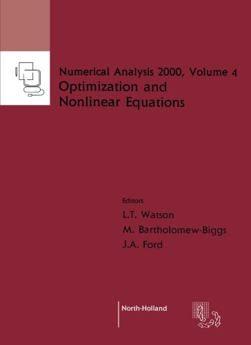 9780444505996: Nonlinear Equations and Optimisation, Volume 4 (Numerical Analysis 2000)