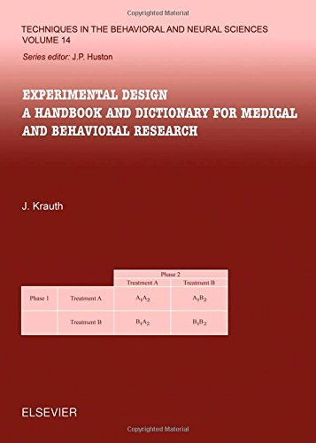 9780444506375: Experimental Design: A Handbook and Dictionary for Medical and Behavioral Research
