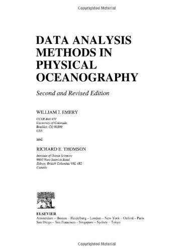 9780444507570: Data Analysis Methods in Physical Oceanography