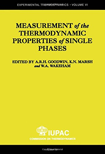 Measurement of the Thermodynamic Properties of Single Phases (Hardback)