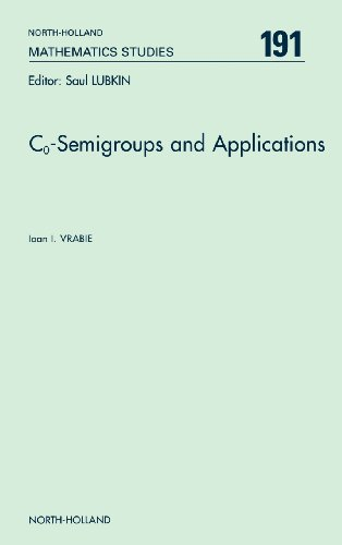 9780444512888: Co-Semigroups and Applications, Volume 191 (North-Holland Mathematics Studies)