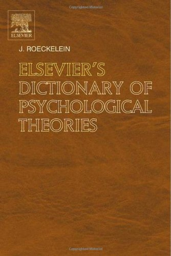 9780444517500: Elsevier's Dictionary of Psychological Theories