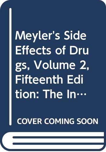 Meyler's Side Effects of Drugs, Volume 2,: J. K. Aronson,