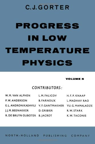 Progress in Low Temperature Physics V5, Volume 5: n/a