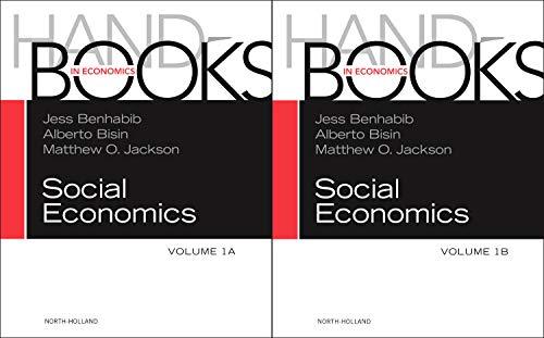 9780444537133: Handbook of Social Economics SET: 1A, 1B, Volume 1