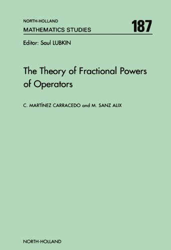 9780444542137: The Theory of Fractional Powers of Operators