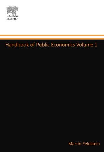 9780444548931: Handbook of Public Economics Volume 1