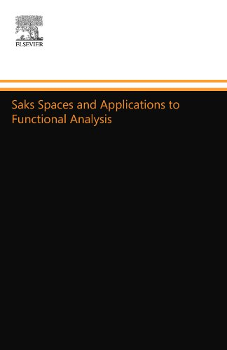 Saks Spaces and Applications to Functional Analysis (044455694X) by Cooper, J. B.