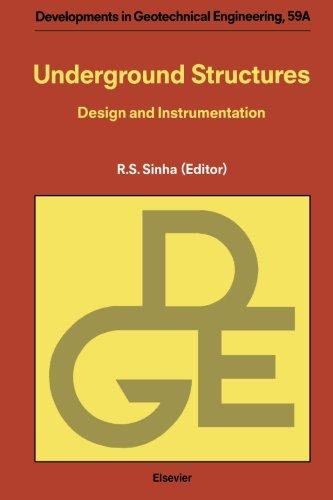 9780444565730: Underground Structures: Design and Instrumentation