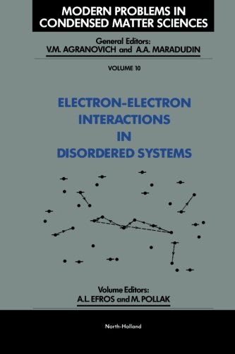 9780444569059: Electron-Electron Interactions in Disordered Systems