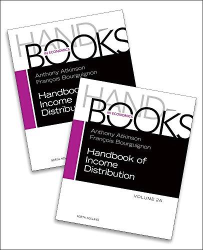 9780444594303: Handbook of Income Distribution, Volume 2A-2B