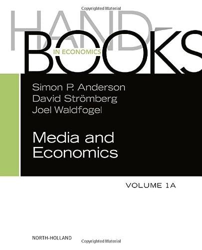 9780444627216: Handbook of Media Economics, vol 1A (Handbooks in Economics)