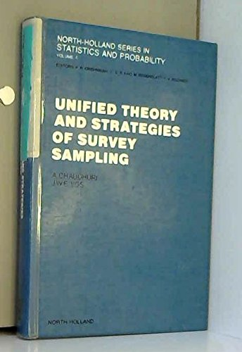 9780444703576: Unified Theory and Strategies of Survey Sampling (North-holland Series in Statistics and Probability)