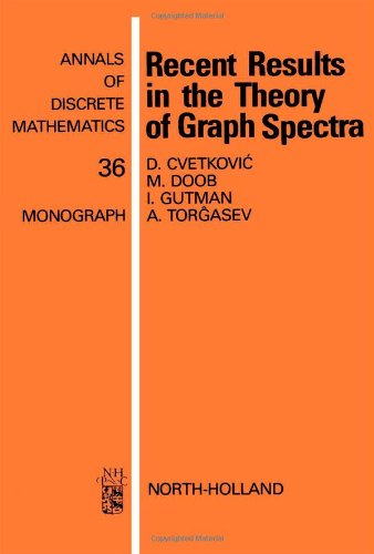 9780444703613: Recent Results in the Theory of Graph Spectra (Annals of Discrete Mathematics)