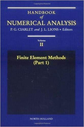 9780444703651: Finite Element Methods (Part 1), Volume 2 (Handbook of Numerical Analysis)