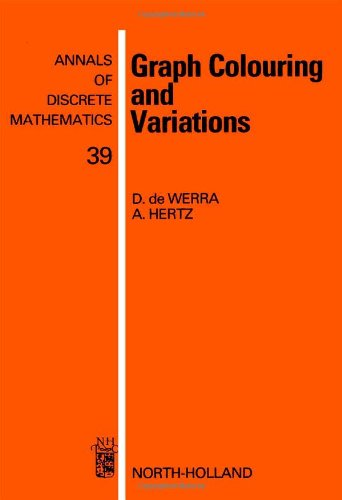 9780444705334: Graph Colouring and Variations (Annals of Discrete Mathematics)