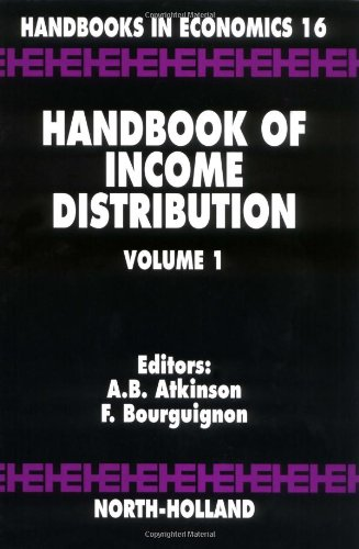 9780444816313: Handbook of Income Distribution: 1 (Handbooks in Economics)